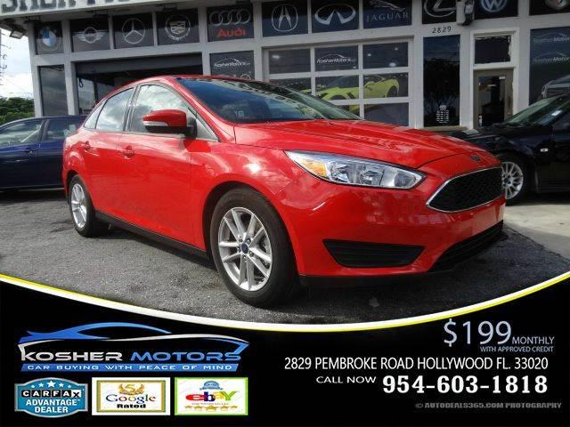 2016 FORD FOCUS SE 4DR SEDAN red only 16k miles no credit needed alloy wheels sunroof pow