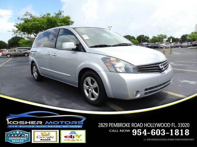 2007 NISSAN QUEST 35 S 4DR MINI VAN silver no credit needed at kosher motors buying a pre-own