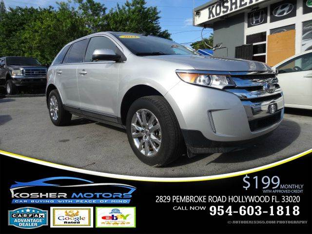 2014 FORD EDGE LIMITED 4DR SUV silver limited edition leather interior fog lights code entry