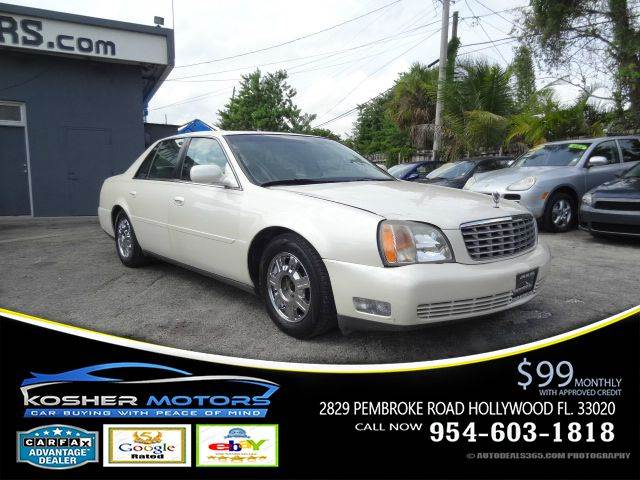 2003 CADILLAC DEVILLE BASE 4DR SEDAN white special leather seats power seats sunroof no