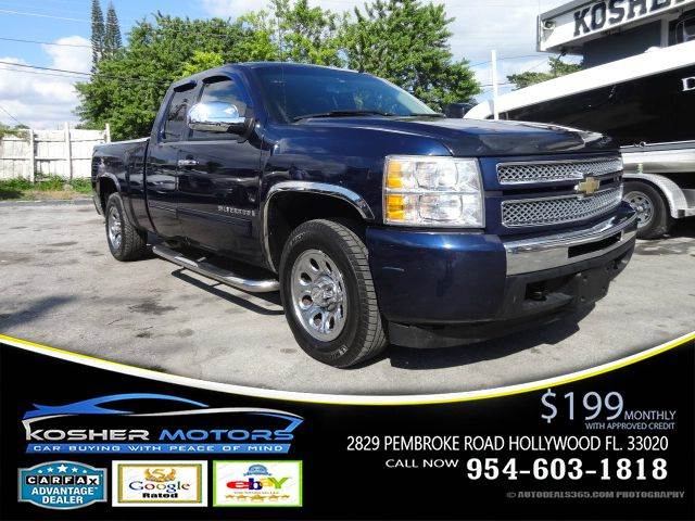 2009 CHEVROLET SILVERADO 1500 WORK TRUCK 4X2 4DR EXTENDED CAB blue front and rear chrome bumper