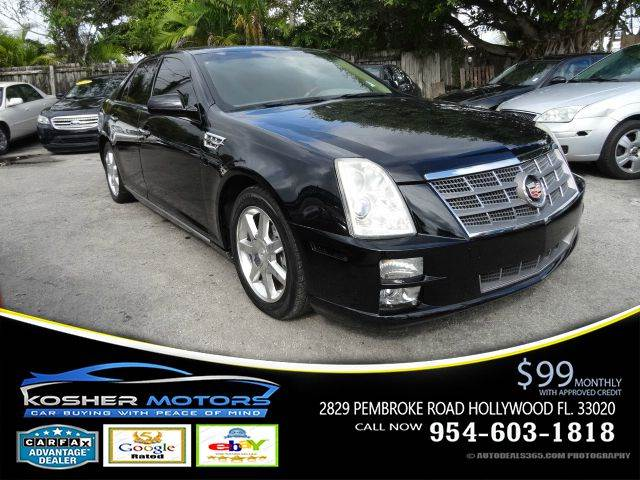 2008 CADILLAC STS V6 4DR SEDAN black luxury package wood finished interior leather interior