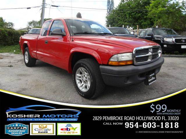 2004 DODGE DAKOTA BASE 2DR CLUB CAB RWD SB red great deal 37 v6club cab with 3 rear seat