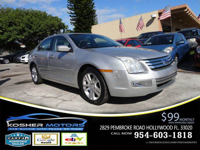 2009 FORD FUSION V6 SEL 4DR SEDAN silver leather interior chrome package alloy wheels 17 door