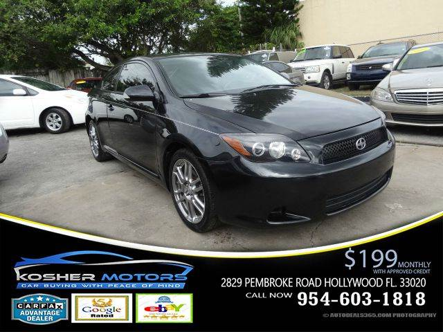 2010 SCION TC BASE 2DR COUPE 4A black pioneer premium sound aux radio connection keyless entry