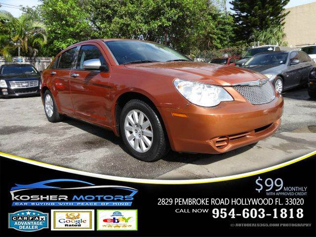 2007 CHRYSLER SEBRING BASE 4DR SEDAN orange leather interior abs 4-wheel air conditioning po