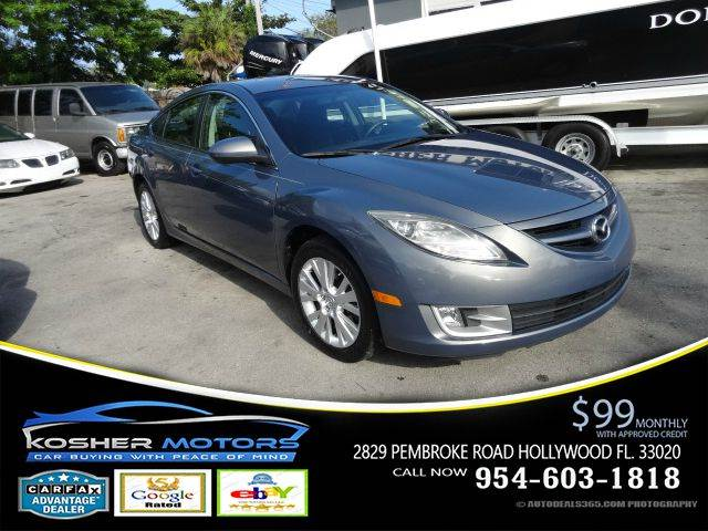 2010 MAZDA MAZDA6 I TOURING PLUS 4DR SEDAN gray alloy wheels traction control dynamic control