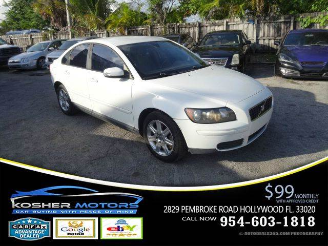 2007 VOLVO S40 24I 4DR SEDAN white alloy wheels traction control stability control abs 4 whee