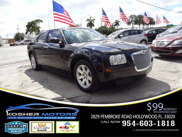 2007 CHRYSLER 300 BASE 4DR SEDAN black leatehr interior abs 4-wheel air conditioning power w