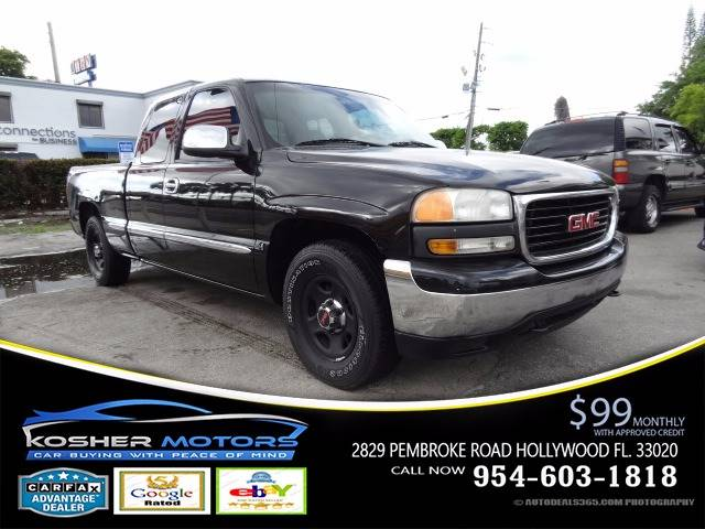 2002 GMC SIERRA 1500 SLT 4DR EXTENDED CAB 2WD SB black all electrical and optional equipment on t