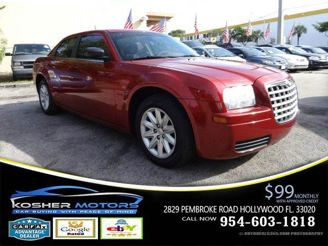2008 CHRYSLER 300 LX 4DR SEDAN red v6 cruise control great audio system mp3 radio connection