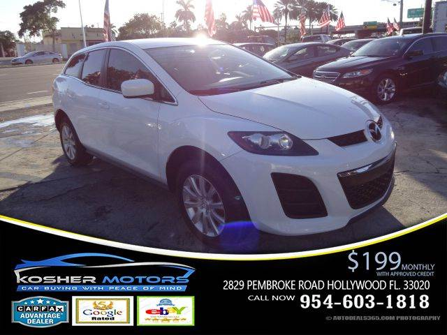 2011 MAZDA CX-7 I SV 4DR SUV white only 60k miles mp3 radio connection  chrome finished exterio