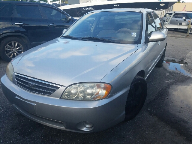 2003 KIA SPECTRA BASE 4DR SEDAN silver aux radio connection cd player steel wheels  all electr