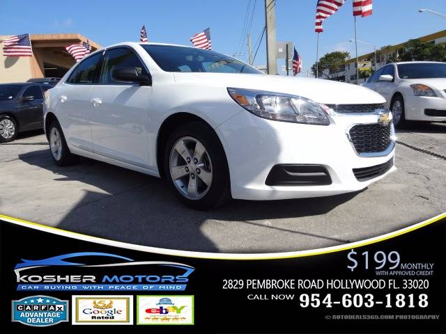 2015 CHEVROLET MALIBU LS 4DR SEDAN white at kosher motors buying a pre-owned car or truck with c