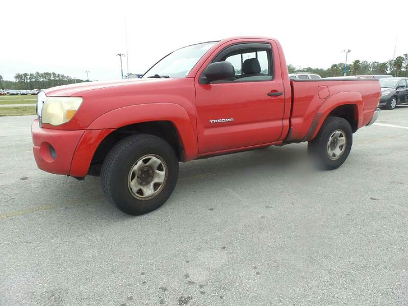 2006 TOYOTA TACOMA PRERUNNER 2DR REGULAR CAB SB red abs - 4-wheel airbag deactivation - occupant