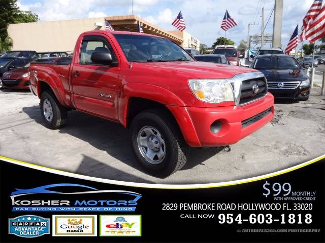 2006 TOYOTA TACOMA PRERUNNER 2DR REGULAR CAB SB red the toyota tacoma may be the best pickup in i