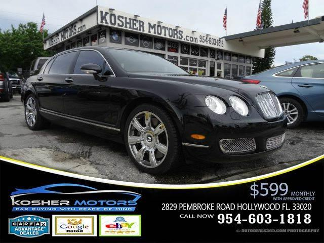 2007 BENTLEY CONTINENTAL FLYING SPUR BASE AWD 4DR SEDAN black clean car trade at kosher motors