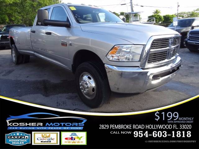 2012 RAM RAM PICKUP 3500 ST 4X4 4DR CREW CAB 8 FT LB PIC white at kosher motors buying a pre-ow