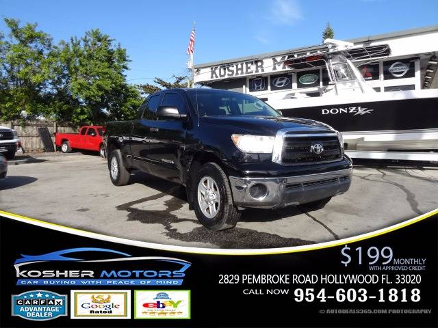 2011 TOYOTA TUNDRA GRADE 4X2 4DR DOUBLE CAB PICKUP black at kosher motors buying a pre-owned car