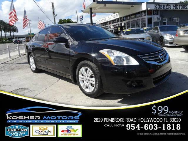 2012 NISSAN ALTIMA 25 S 4DR SEDAN black power seats sunroof carfax available  the nissan alti