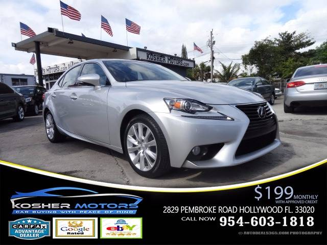 2014 LEXUS IS 250 BASE 4DR SEDAN silver leather seat push start sunroof clean title carfax av