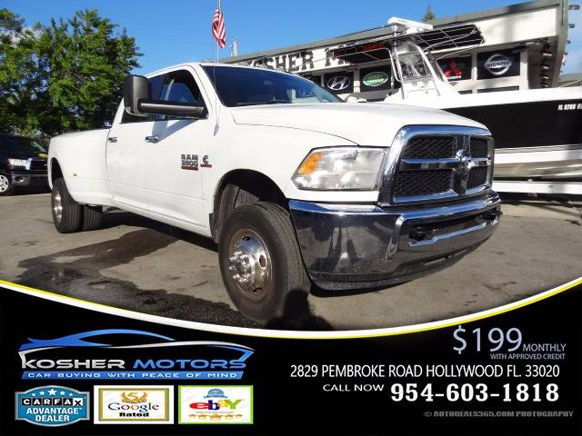 2013 RAM RAM PICKUP 3500 SLT 4X4 4DR CREW CAB 8 FT LB PI white 4x4 heavy duty turbo diesel cl