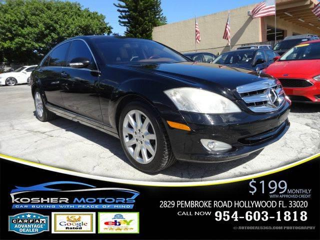 2007 MERCEDES-BENZ S-CLASS S550 4DR SEDAN black loaded leather seats power seats automatic tru