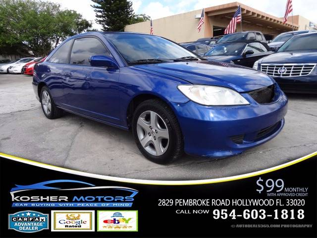 2005 HONDA CIVIC EX SPECIAL EDITION 2DR COUPE blue new fresh trade in automatic  sunroof  gas