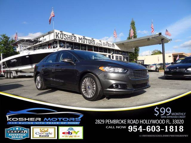 2016 FORD FUSION TITANIUM 4DR SEDAN gray at kosher motors buying a pre-owned car or truck with c