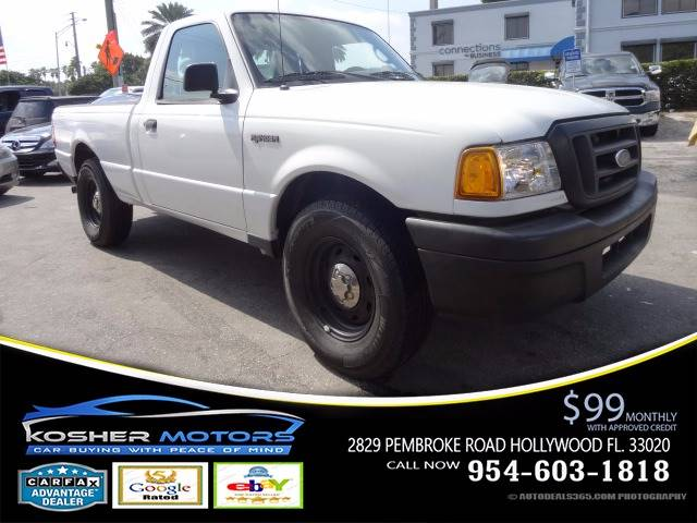 2005 FORD RANGER XLT 2DR STANDARD CAB RWD SB white clean car trade just in automatic super gas