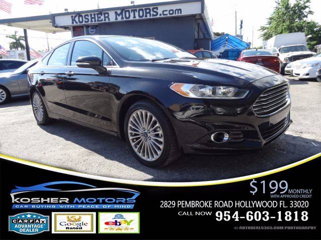 2015 FORD FUSION TITANIUM 4DR SEDAN black black on black leather seats sunroof power seats ba