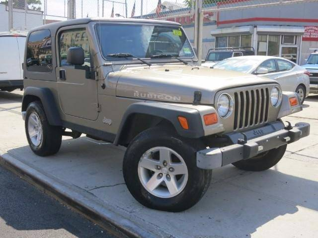 2003 JEEP WRANGLER RUBICON 4WD 2DR SUV beige rare yes its a rubicon 4x4 6 spd good tires h