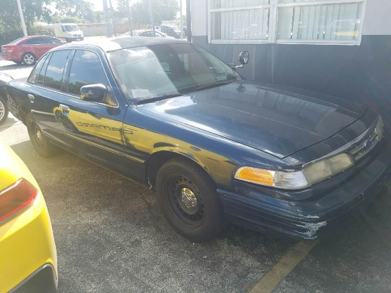 1997 FORD CROWN VICTORIA POLICE INTERCEPTOR 4DR SEDAN blue clean car trade police interceptor su