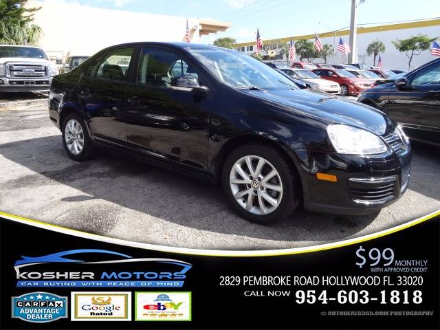 2010 VOLKSWAGEN JETTA LIMITED EDITION 4DR SEDAN 5M black rare  6 spd low miles black on blac