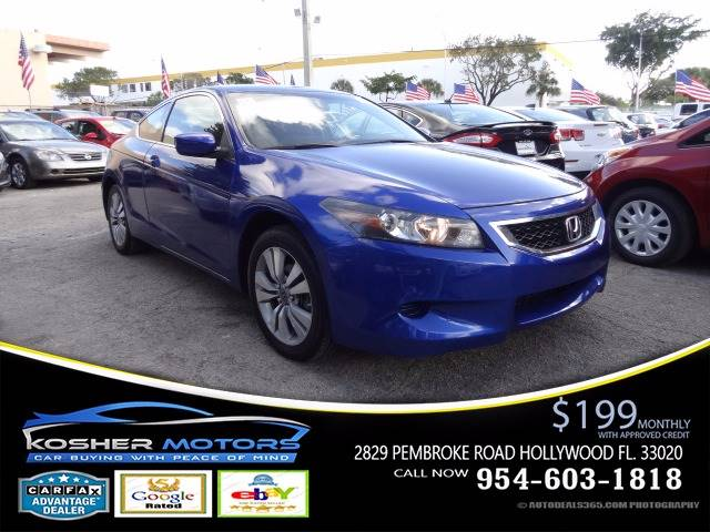 2009 HONDA ACCORD LX-S 2DR COUPE 5A blue just in rare coupe blue honda accord  gas saver extre