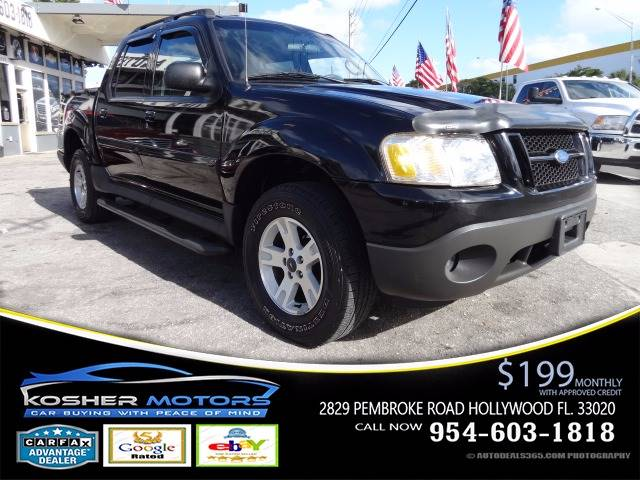 2005 FORD EXPLORER SPORT TRAC XLT 4DR CREW CAB SB RWD black just in clean car trade automatic