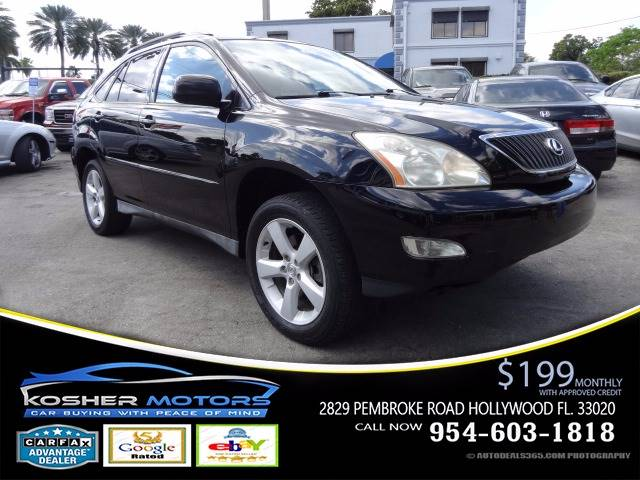 2005 LEXUS RX 330 BASE FWD 4DR SUV black leather seats power seats sunroof clean title carfax