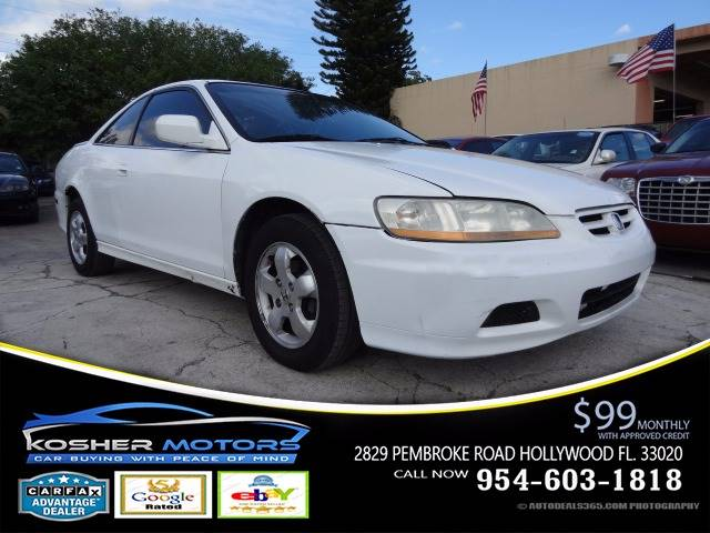 2001 HONDA ACCORD EX WLEATHER 2DR COUPE WLEATHER white clean car trade leather sunroof gas s
