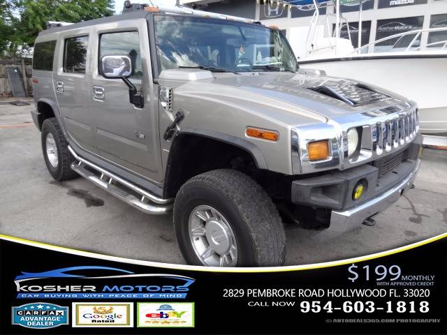 2003 HUMMER H2 LUX SERIES 4DR 4WD SUV champagne 4x4 loaded leather seats power seats clean ti