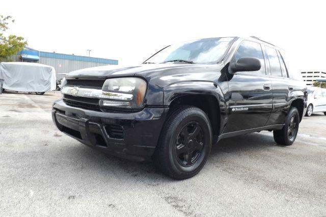 2002 CHEVROLET TRAILBLAZER LS 2WD 4DR SUV black ls 2wd 4dr suv leather seats clean title clean