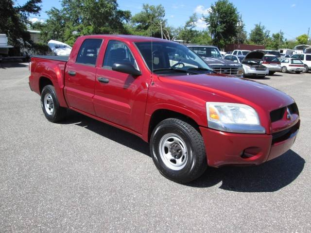 2007 MITSUBISHI RAIDER LS 4DR DOUBLE CAB SB red front bumper color - silver pickup bed light re