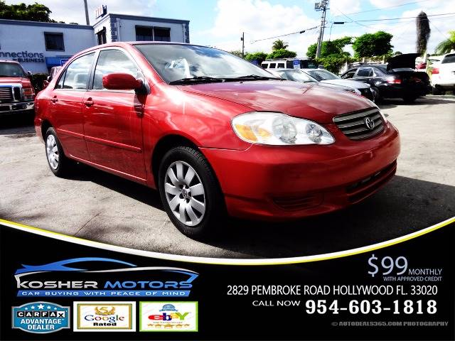 2004 TOYOTA COROLLA LE 4DR SEDAN red super clean car trade  only 80k miles gas saver automatic
