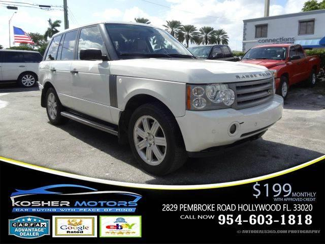 2008 LAND ROVER RANGE ROVER HSE 4X4 4DR SUV white hse 44 v8 4 wheel drive touch screen naviga