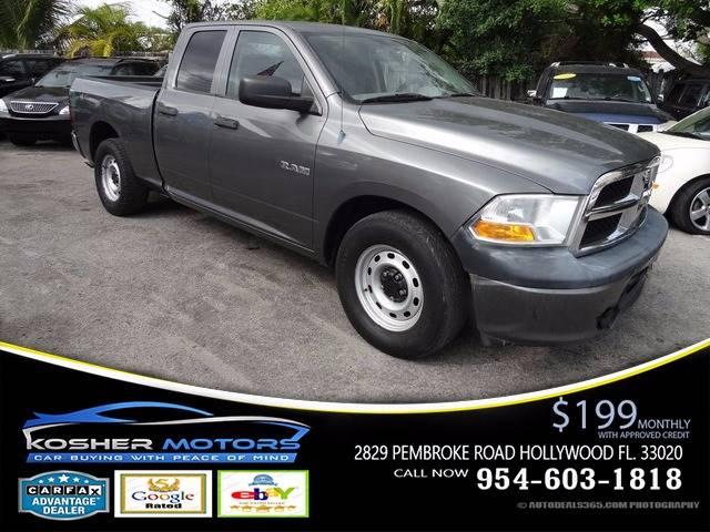 2010 Dodge Ram Pickup 1500 4x2 ST 4dr Quad Cab 6.3 ft. SB Pickup - Hollywood FL