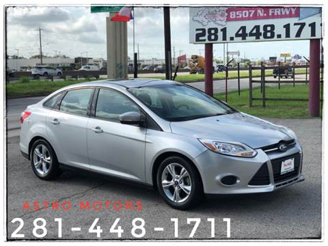2014 Ford Focus for sale at ASTRO MOTORS in Houston TX