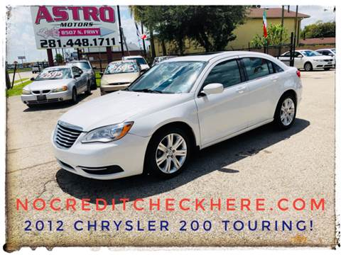 2012 Chrysler 200 for sale at ASTRO MOTORS in Houston TX