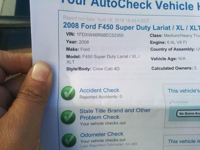 2008 Ford F-450 CHIPPER DUMP 4 DOOR In Rosemead CA - Vehicle