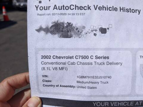 2002 Chevrolet C7500