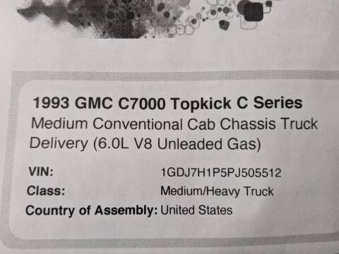 1993 GMC TOPKICK