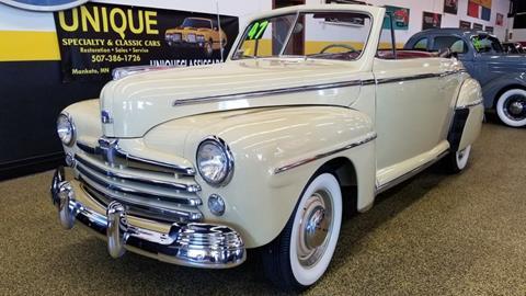 1947 Ford Super Deluxe for sale at UNIQUE SPECIALTY & CLASSICS in Mankato MN